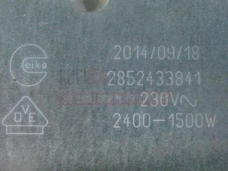 Grijač ringla staklokeramika 230V 2400/1500W 265x170mm 607620 Velika