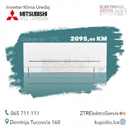 MITSUBISHI Inverter klima MSZ/MUZ-AP35 Velika